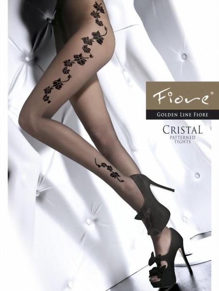 Pantys met bloemenpatroon Cristal van Fiore, 20 DEN