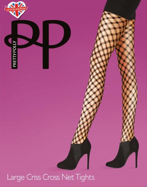 Netpanty met ruitmotief Large Criss Cross Net van Pretty Polly