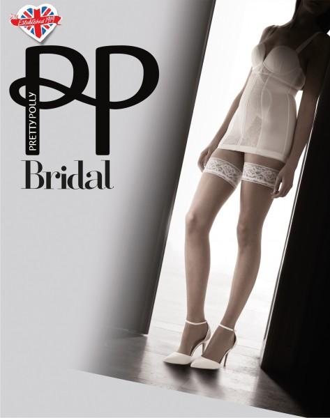 Fijne, glanzende zelfophoudende kousen voor bruid Bridal van Pretty Polly