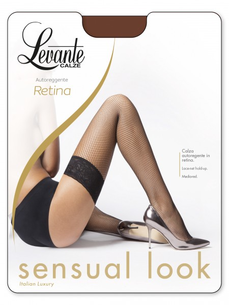 Gladde net stay ups Retina 20 van Levante