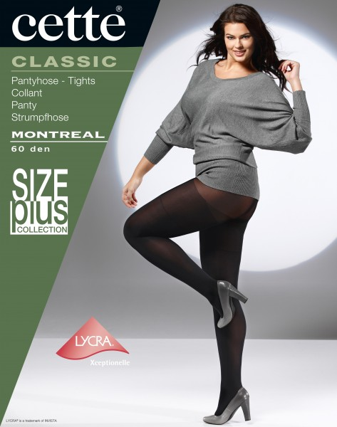 Cette Size Plus Collection - Opaque grote maten panty Montreal