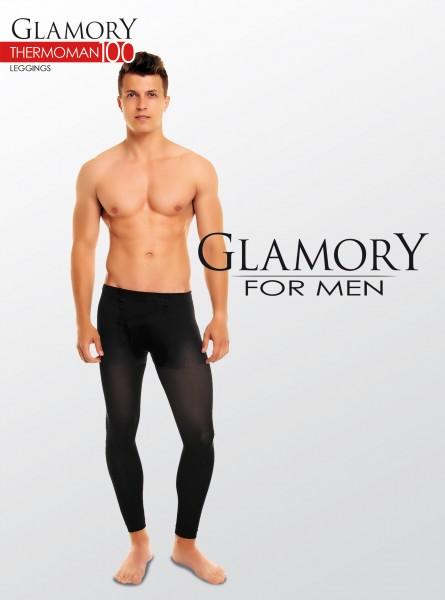 Ondoorzichtige grote maten mannenlegging Thermoman 100 van Glamory