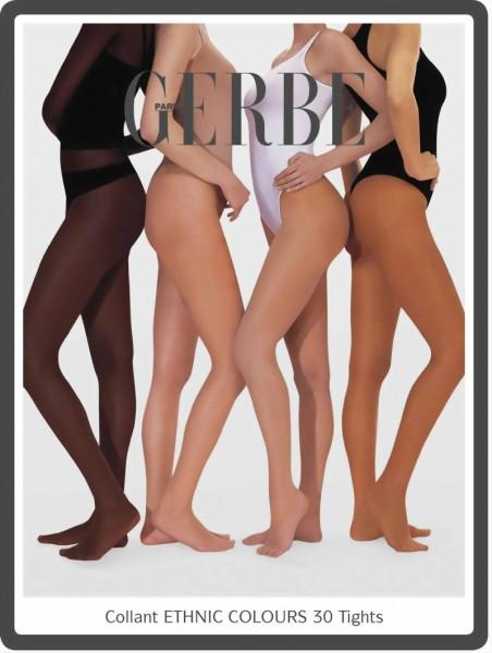 Panty voor alle soorten van huidtinten Ethnic Colours 30 DEN van Gerbe