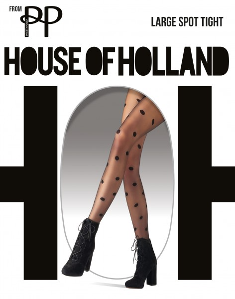 Trendy panty met stippen Large Spot van House of Holland for Pretty Polly