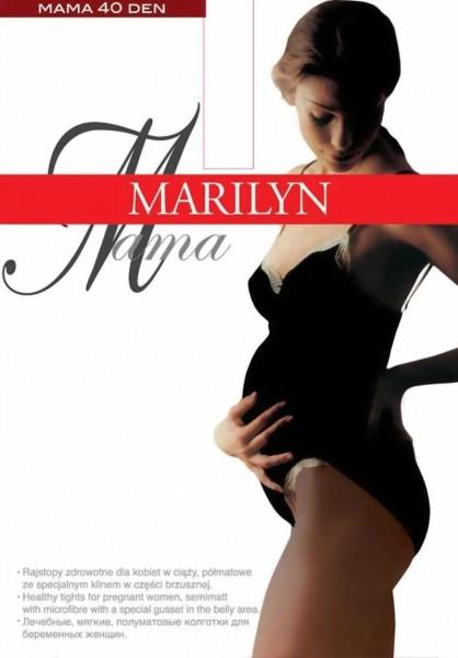 Gladde semi-ondoorzichtige zwangerschapspanty Mama 40 DEN van Marilyn