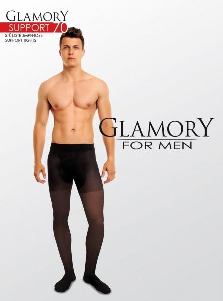 Ondoorzichtige grote maten mannenpanty Support 70 van Glamory