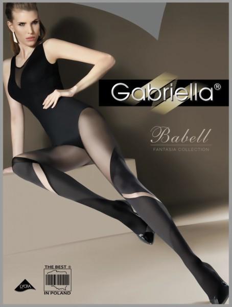 Trendy overknee panty met patroon Babell van Gabriella