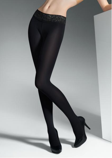 Gladde opaque heuppanty met kanten boord Vita Bassa 50 van Marilyn