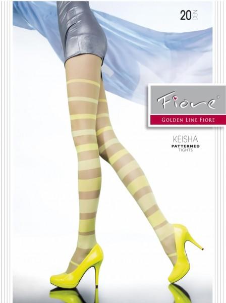Trendy gestreepte pantys in zomerkleuren Keisha van Fiore, 20 DEN