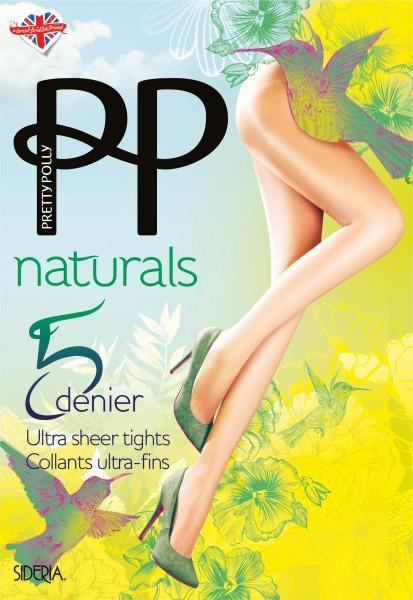 Gladde ultra-transparante zomerpanty Naturals 5 DEN Sideria van Pretty Polly