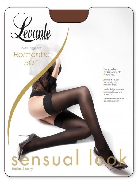 Gladde opaque stay ups Romantic 50 van Levante