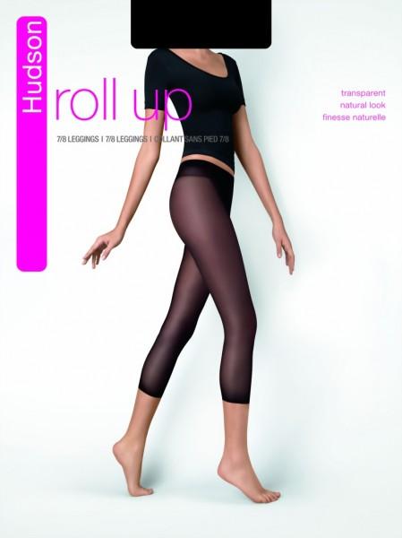 Gladde natural-look legging Roll up van Hudson