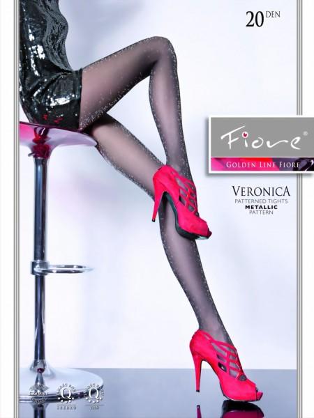 Elegante pantys met zilver glittertjes Veronica van Fiore, 20 DEN