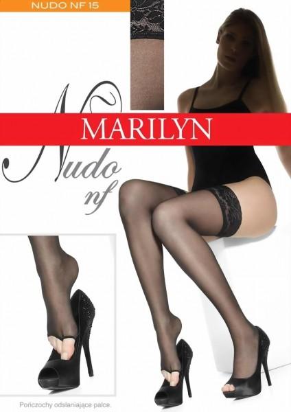 Gladde teenloze stay ups Nudo van Marilyn