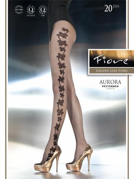 Elegante pantys met bloemenpatroon Aurora van Fiore, 20 DEN
