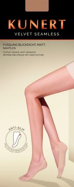 Comfortabele, zeer fijne naadloze kousenvoetjes Velvet Seamless van Kunert