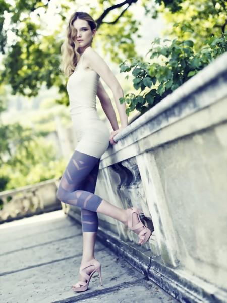 Exclusieve capri-leggings met patroon Kiele van Omero