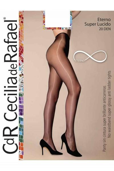 Comfortabele, super glanzende panty zonder boord Eterno Super Lucido van Cecilia de Rafael