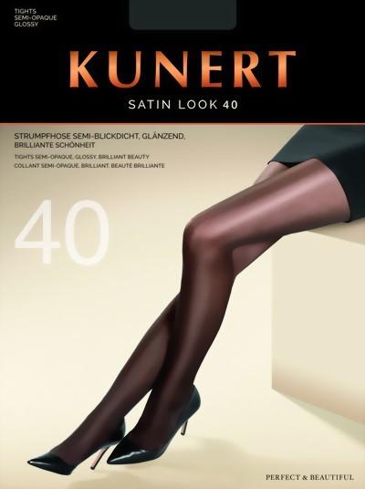 Glanzende semi-ondoorzichtige pantys Satin Look 40 van KUNERT