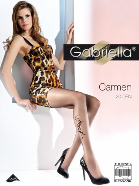 Elegante pantys met bloemenpatroon Carmen van Gabriella