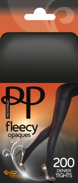 Gladde ondoorzichtige winterpantys Fleecy van Pretty Polly