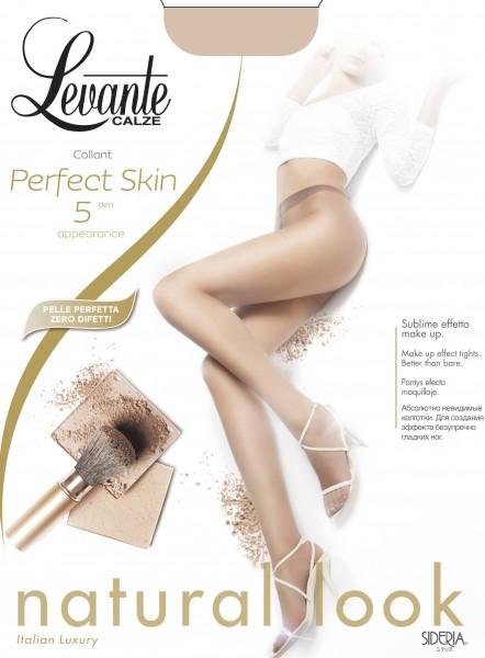 Gladde ultra-transparante panty met Sideria-garen Perfect Skin van Levante, 5 DEN