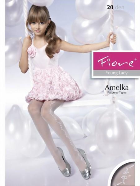 Elegante kinderpantys met bloemenpatroon Amelka van Fiore