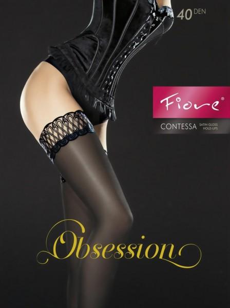 Elegante glanzende stay ups Contessa van Fiore