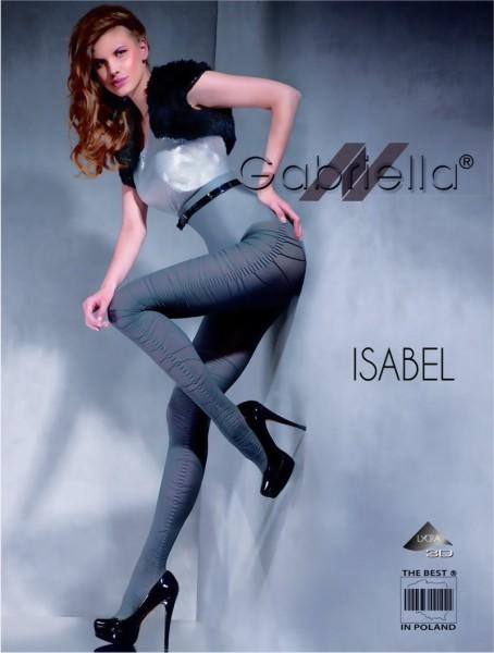 Ondoorzichtige panty met patroon Isabel van Gabriella