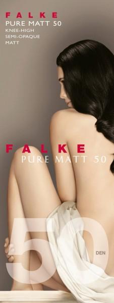 Falke Pure Matt 50 - Semi-opaque kniekousen