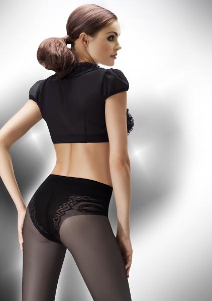 Semi-opaque panty met figuurcorrigerend broekje Slim Body 40 van Annes