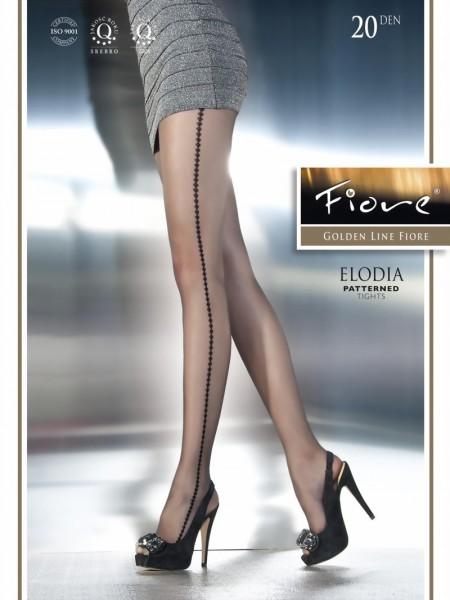 Exclusieve pantys met patroon Elodia van Fiore, 20 DEN