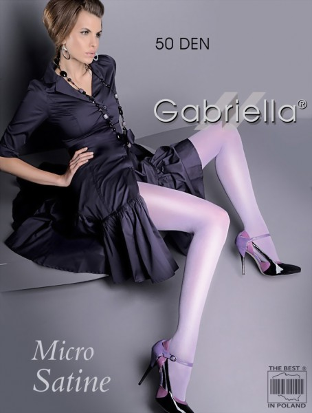 Gladde glanzende panty Micro Satin 50 DEN van Gabriella