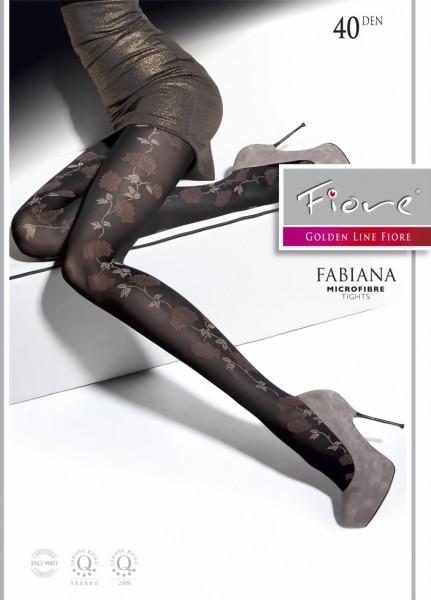Elegante pantys met bloemenpatroon Fabiana van Fiore, 40 DEN