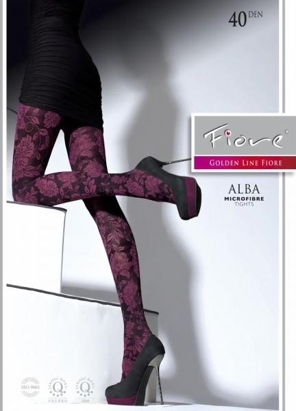 Pantys met trendy bloemenpatroon Alba van Fiore, 40 DEN