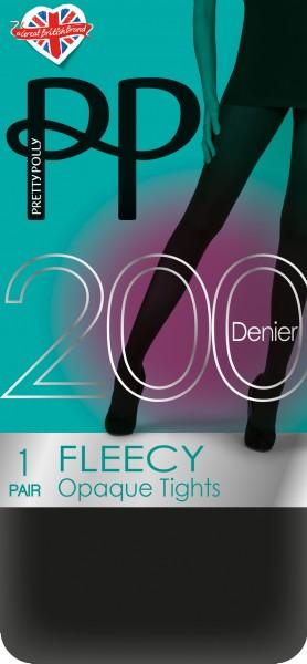 Gladde opaque winterpanty met Fleece 200 Denier Fleecy van Pretty Polly