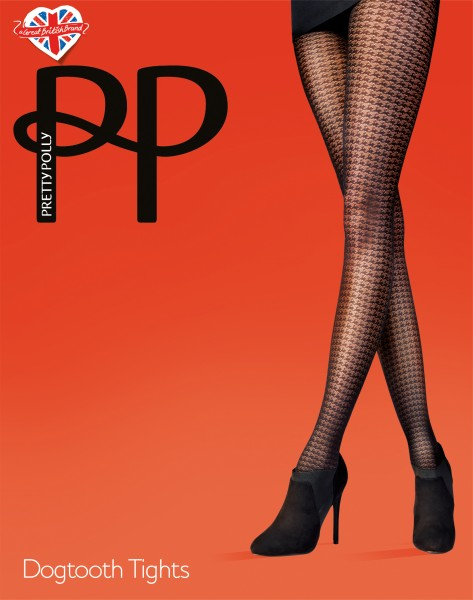 Pretty Polly Dogtooth - Panty met pied-de-poule patroon