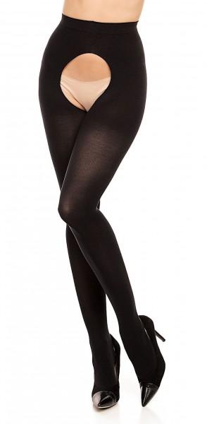 Opaque grote maten panty met open kruis Ouvert 60 van Glamory