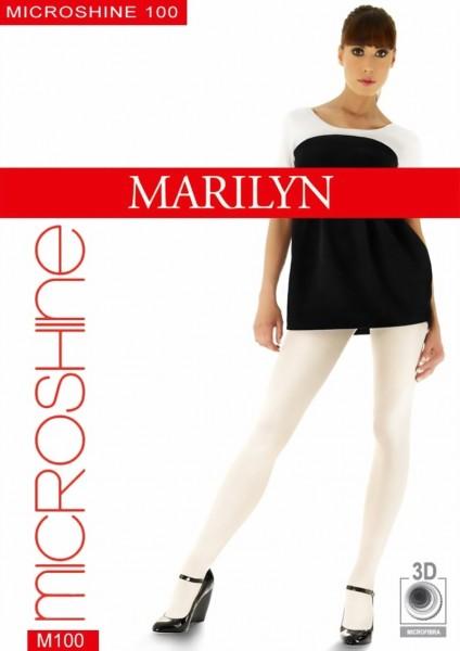 Glanzende ondoorzichtige pantys Microshine van Marilyn, 100 DEN