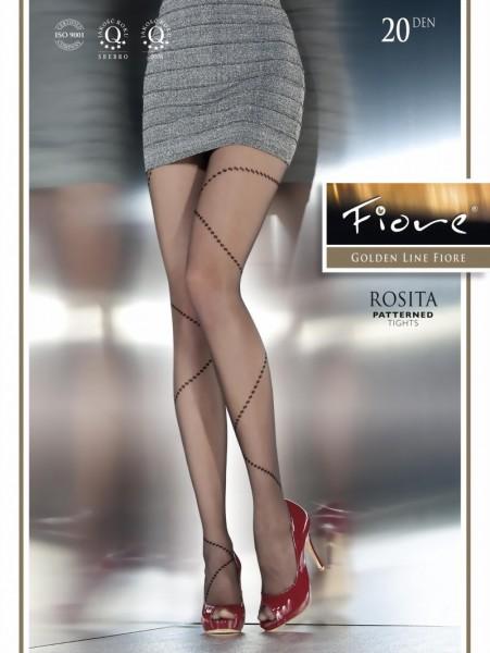 Exclusieve pantys met patroon Rosita van Fiore, 20 DEN