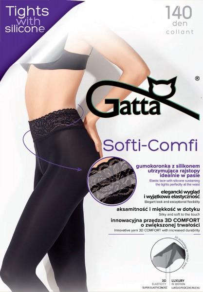 Opaque panty met kanten boord Softi-Comfi 140 van Gatta