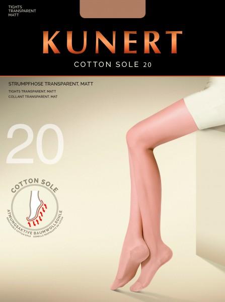 Fijne panty met katoenen zool Cotton Sole 20 van Kunert