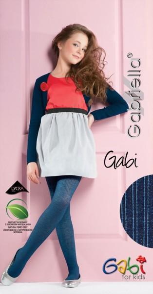Ondoorzichtige kinderpantys met streepjespatroon Gabi van Gabriella