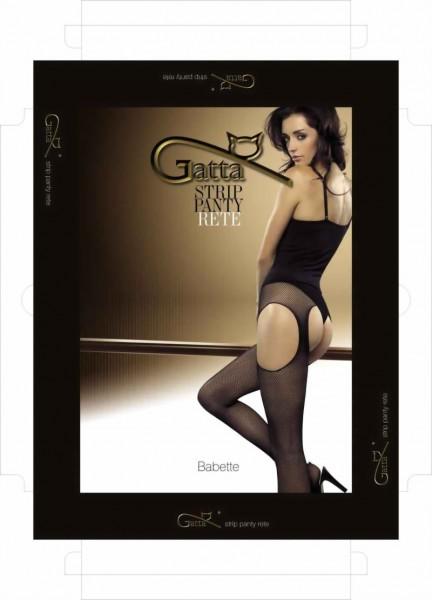 Strip panty met netstructuur Babette van Gatta