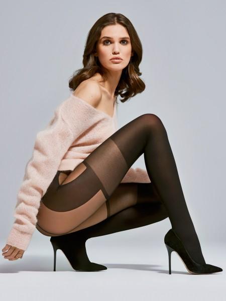 Panty met jarretel-look Modern van Fiore, 40 DEN