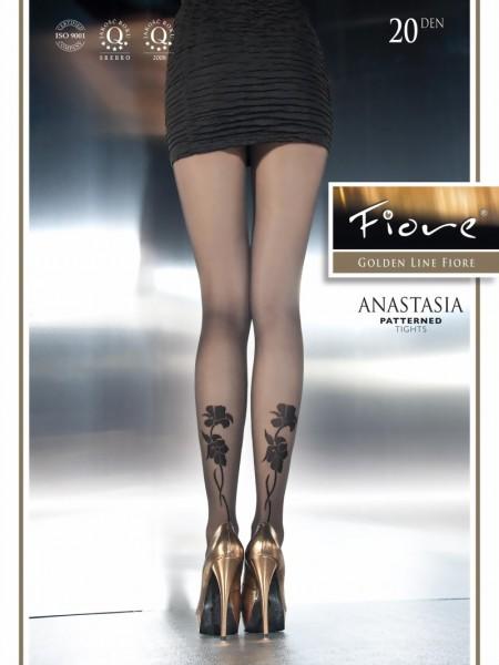 Elegante pantys met bloemenpatroon Anastasia van Fiore, 20 DEN