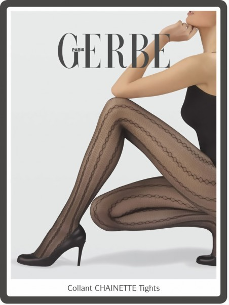 Elegante panty met patroon Chainette van Gerbe