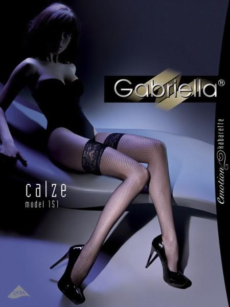 Klassieke gladde stay ups met fijne netstructuur Kabarette 151 van Gabriella