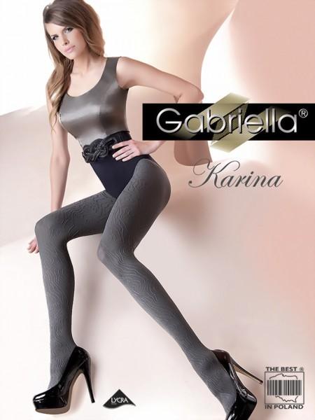 Ondoorzichtige panty met patroon Karina van Gabriella