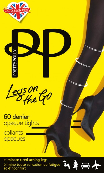 Licht steungevende opaque panty Legs on the Go van Pretty Polly